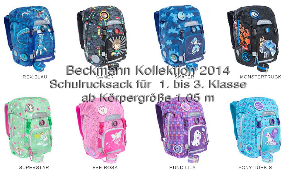 Beckmann Schulrucksack ab 1. Klasse Kollektion 2014