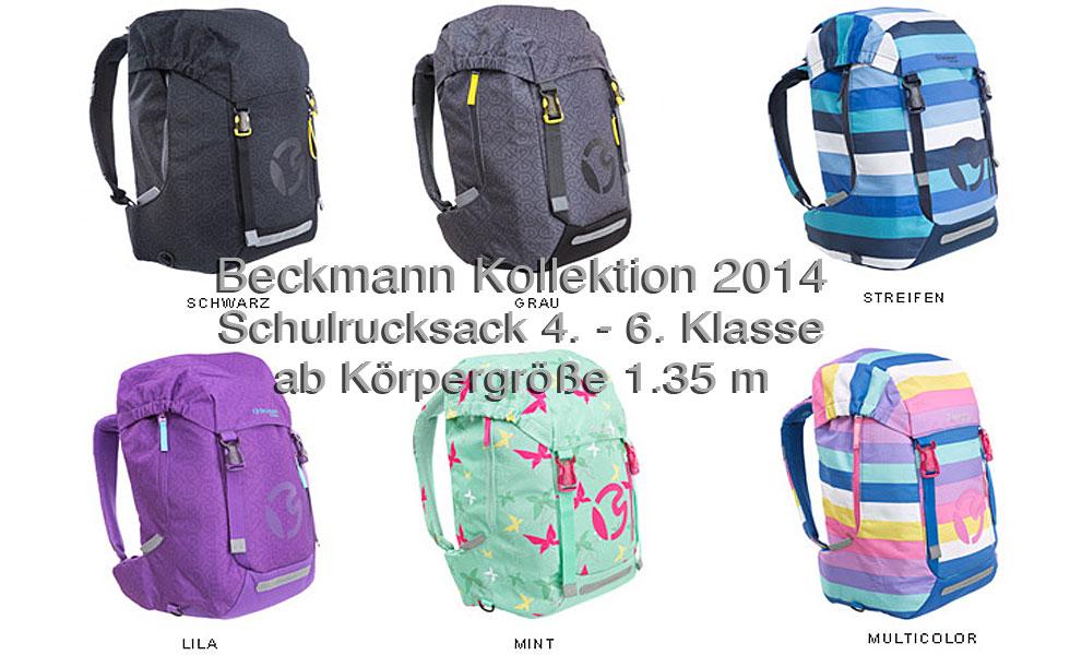 Schulrucksack 4. bis 6. Klasse Beckmann