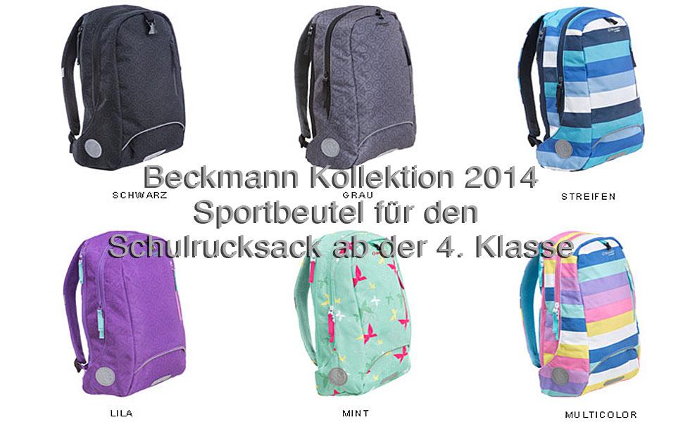 Sportbeutel Schulrucksack 4. bis 6. Klasse-Beckmann