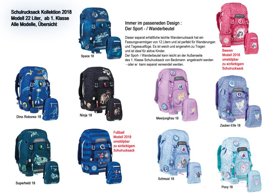 d348b297b9ae6 Übersicht aller Modelle für den Schulrucksack 2018 ab 1. Klasse von Beckmann  bei Physio Schulranzen Vorverkauf hat begonnen ! Auslieferung ab Anfang  April ...