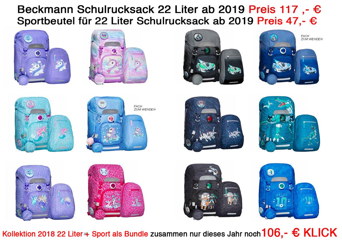 ALLE 22 Liter 2019-Beckmann-Schulrucksack-Physio-Schulranzen